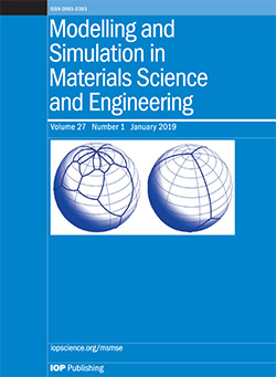 Modelling and Simulation in Materials Science and Engineering Q2 SJR 0.68