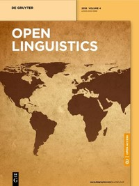 Open Linguistics Q2 SJR 0.27