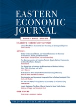 Eastern Economic Journal Q3 SJR 0.21