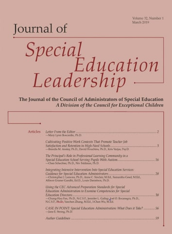 Journal of Special Education Leadership Q3 SJR 0.28