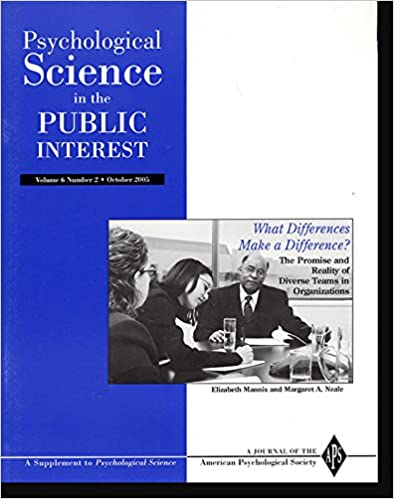 Psychological Science in the Public Interest, Supplement